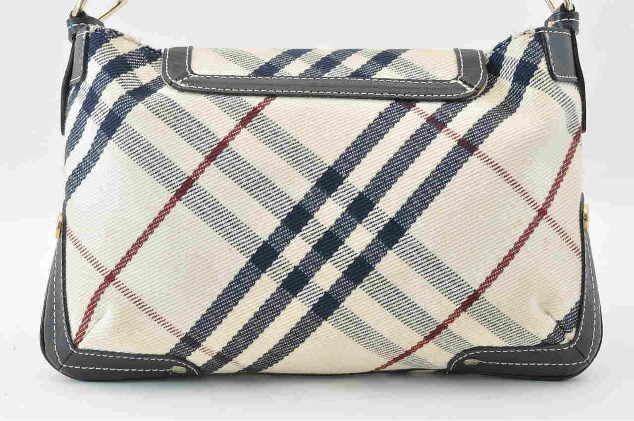 Burberry Blue Label Nova Check Canvas Shoulder Bag - Luxurylana Boutique b370aef5c8a93