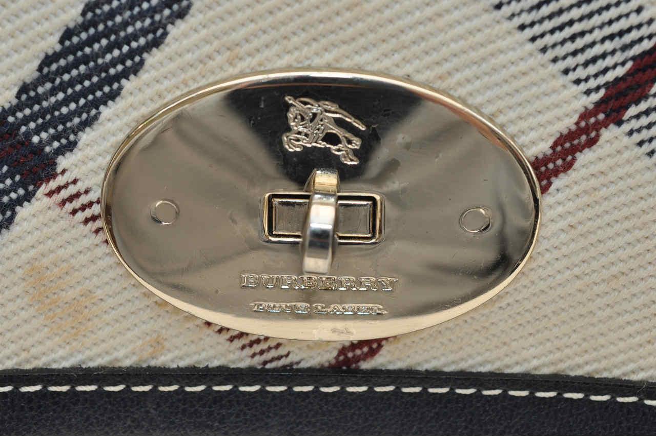 d510601a43e Burberry Blue Label Nova Check Canvas Shoulder Bag - Luxurylana Boutique