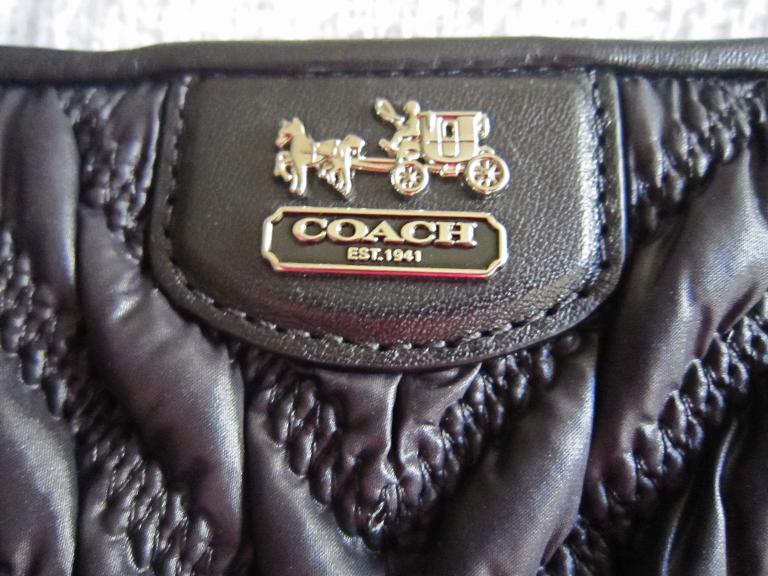 187ca1d21e45 Coach Black Madison Gathered Handbag-1