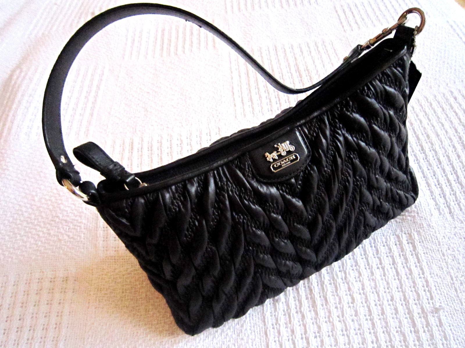 78ed7b4d2e41 Coach Black Madison Gathered Handbag-3