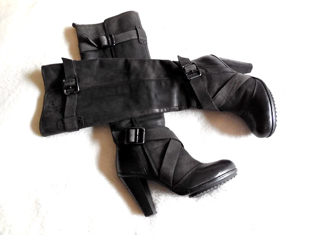 906c1eaee19 DKNY Raleigh Leather Boots - Luxurylana Boutique
