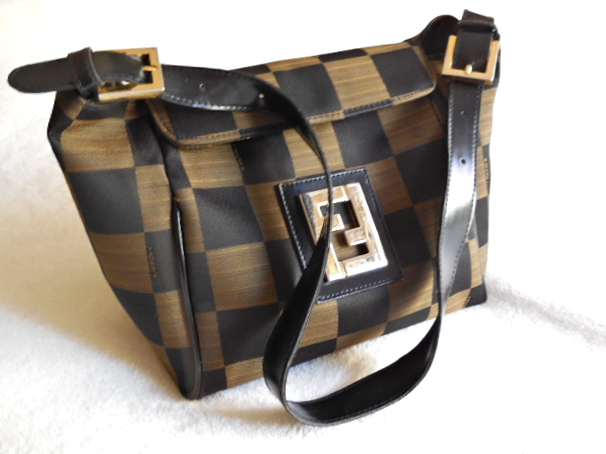 642a096b20e1 Fendi Vintage Checked Hobo Bag - Luxurylana Boutique