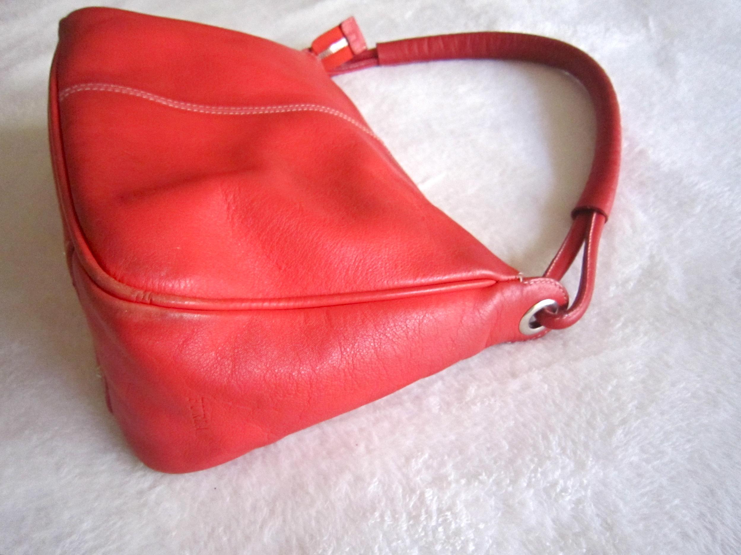 5c627af29 Furla Red Leather Shoulder Bag - Luxurylana Boutique