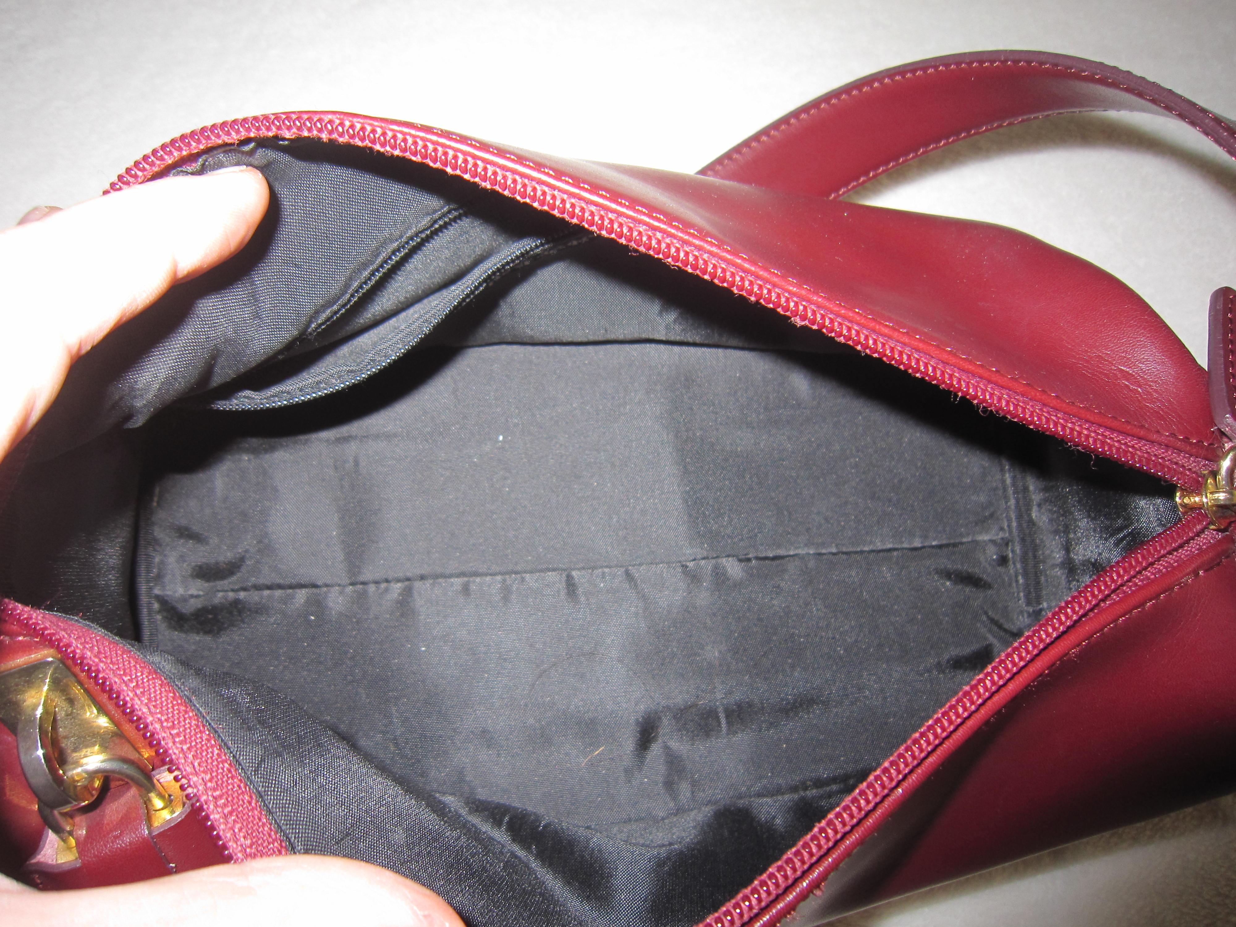 12e1b8feed7d Holt Renfrew Burgundy Leather Shoulder Bag - Luxurylana Boutique