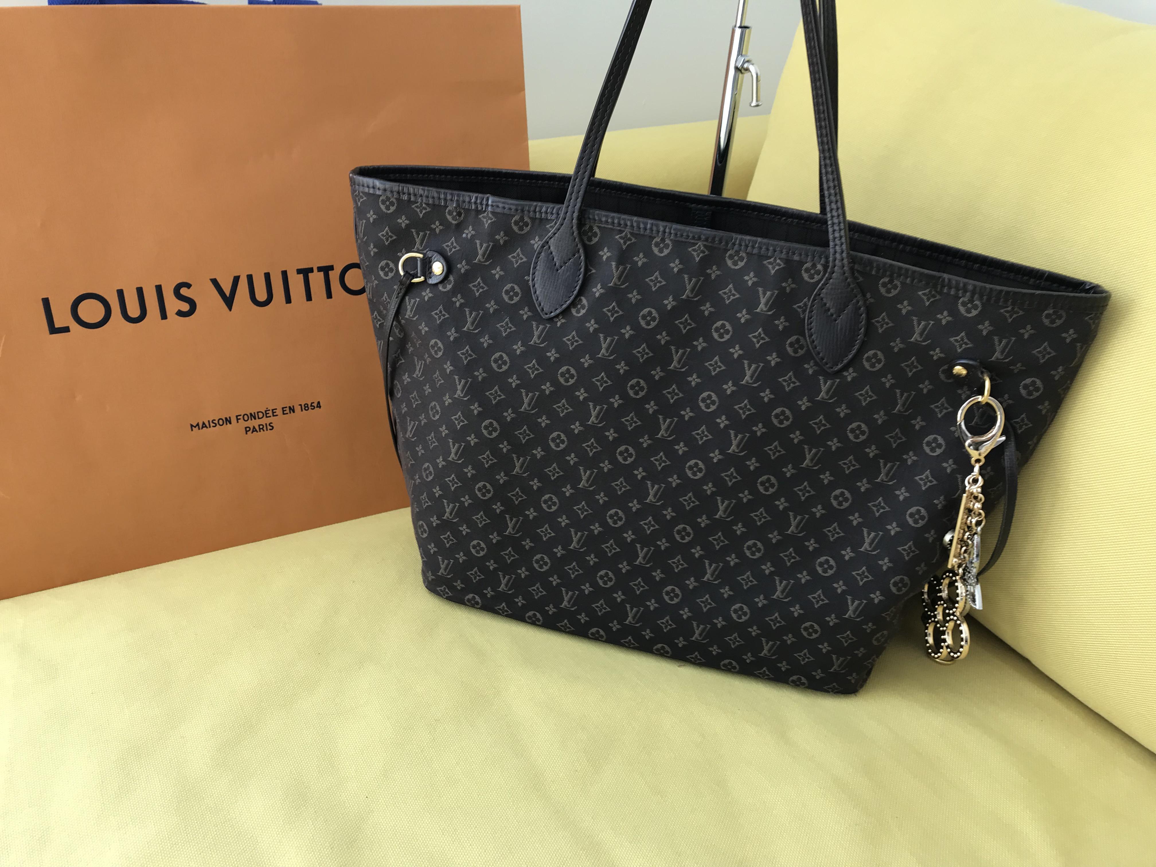 bc497d64b4c0 Home   Bags   Totes   Louis Vuitton Fusain Monogram Idylle Neverfull MM  Tote Bag