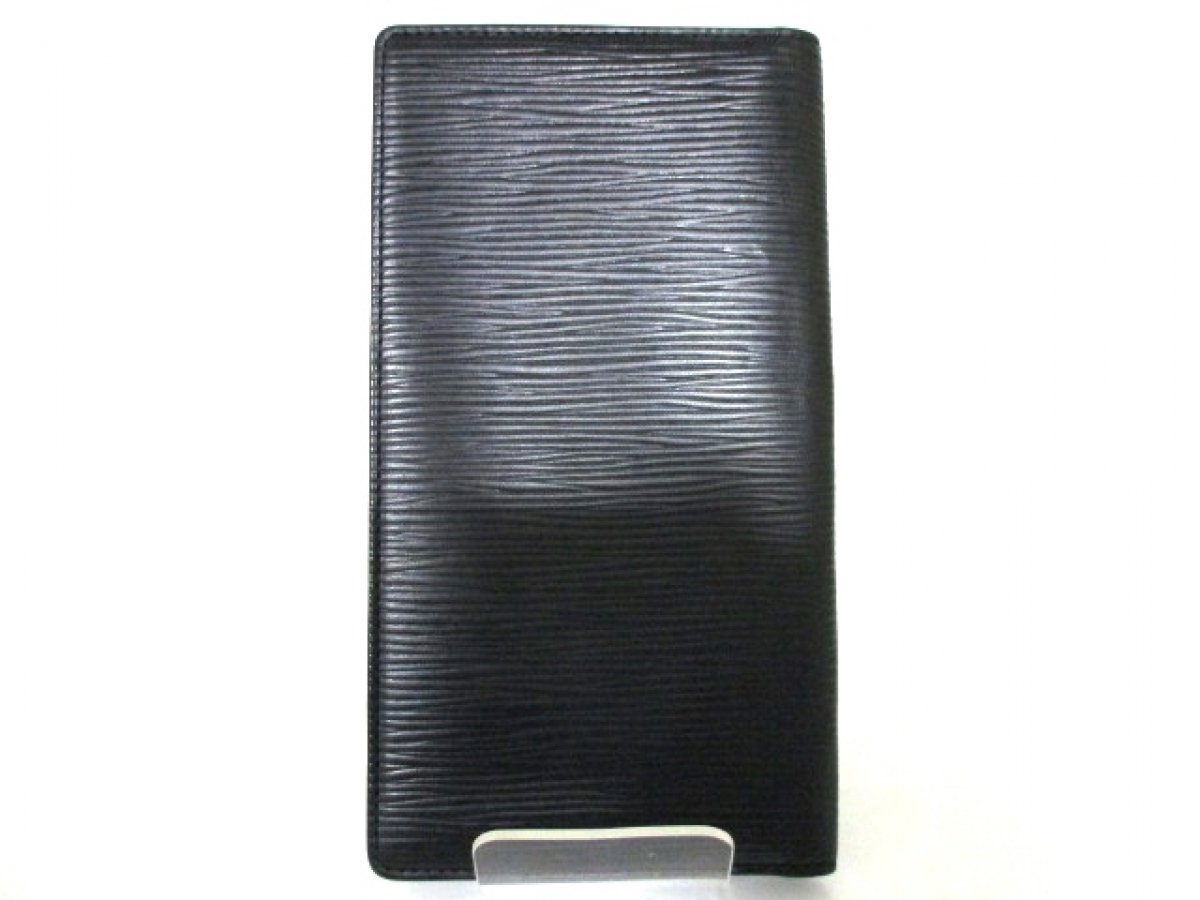 3f243b57a66 Louis Vuitton Black Epi Porte Cartes Credit Bifold Wallet ...