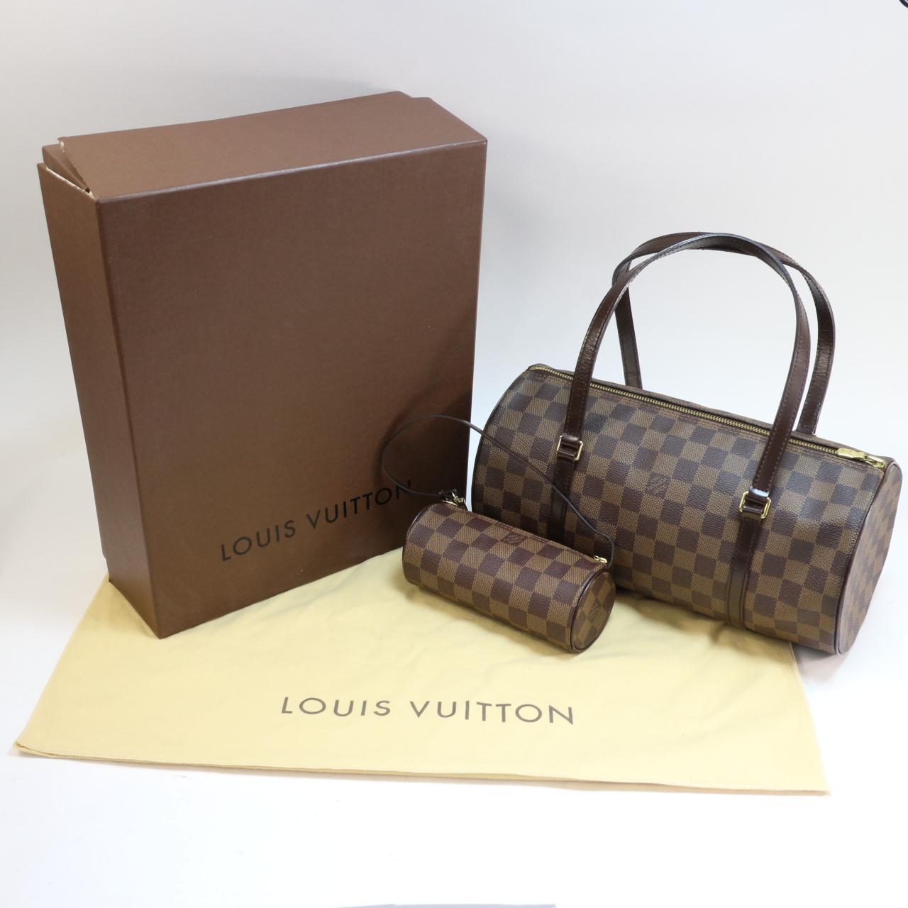 Louis Vuitton Damier Ebene Papillon Handbag W Pouch - Luxurylana Boutique 7a1845803d170