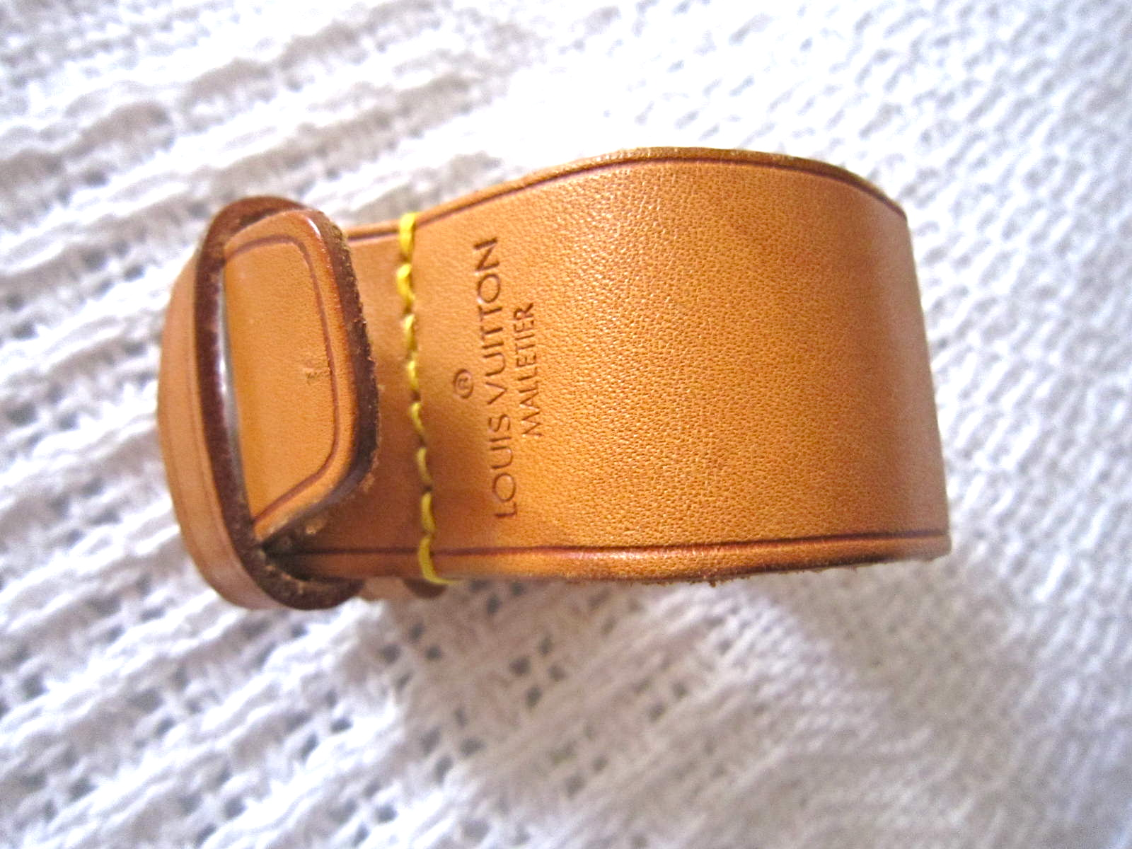 d5a56e6b10b8 Louis Vuitton Leather Strap Holder for Keepall - Luxurylana Boutique