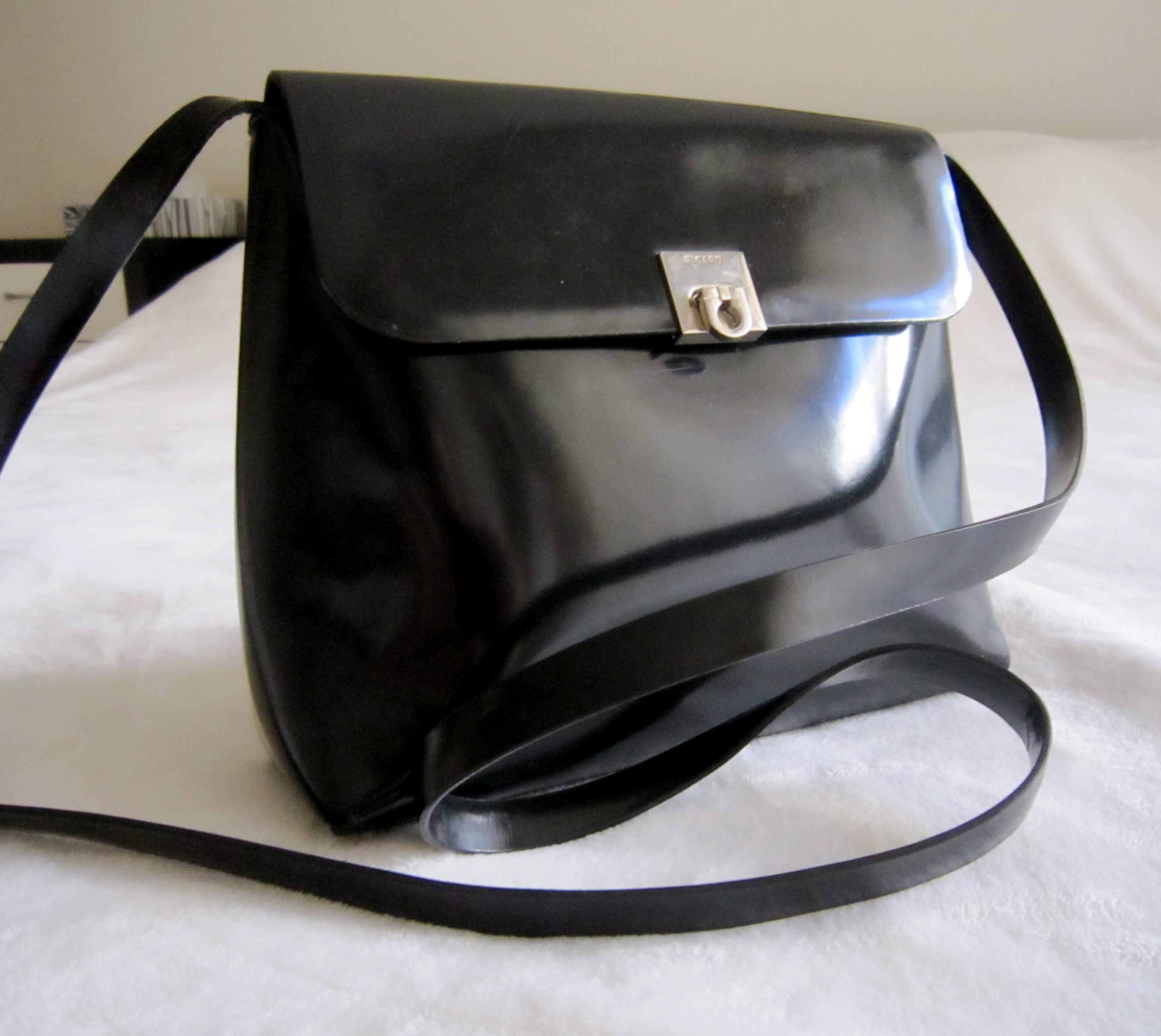 173b8be82 Picard Black Patent Leather Crossbody - Luxurylana Boutique