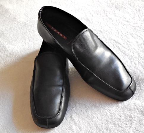 6fcba5df459cf Prada Classic Black Men's Shoes / Size 9 - Luxurylana Boutique