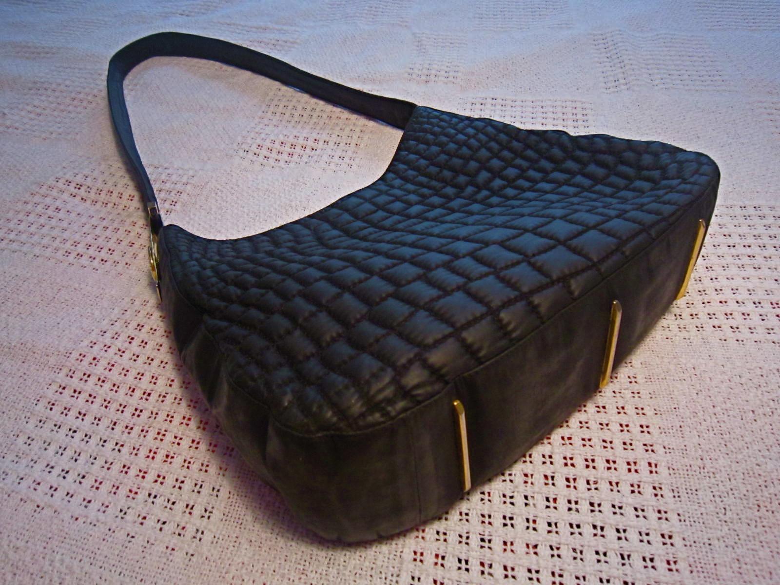 Valentino Orlandi Black Quilted Hobo Bag 1