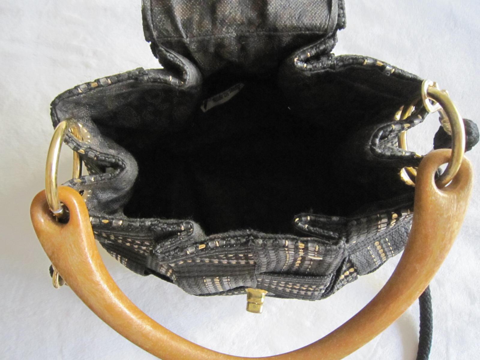 455b24b89 Vintage Fiona Black Shoulder Bag - Luxurylana Boutique